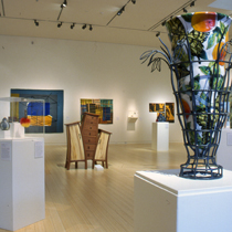 "Installation view of ""28th Annual Contemporary Crafts"" exhibition, Jan-Mar 2007."
