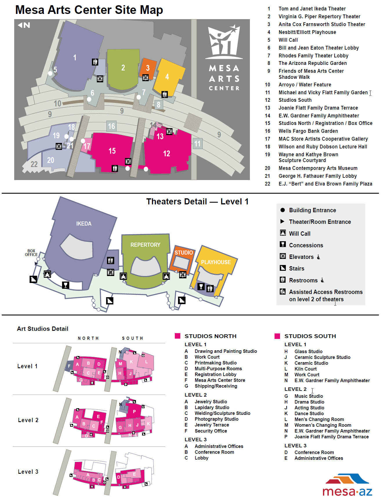 To A Detailed Map Of The Mac Campus Click Here Visit Mesa Arts Center