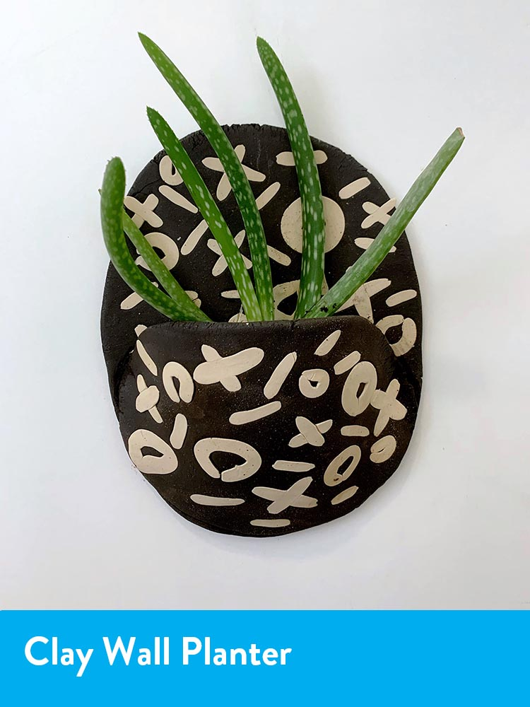 Clay wall planter