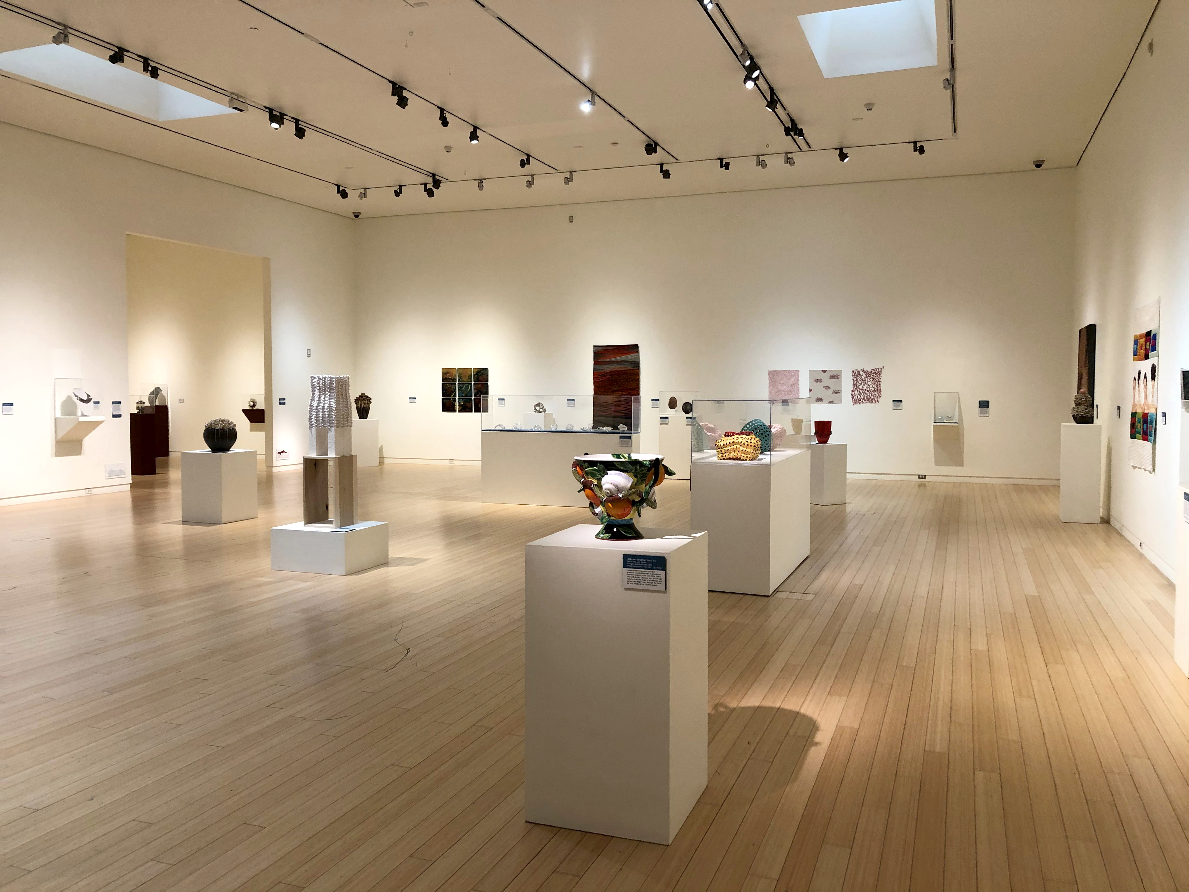Contemporary Crafts exhibition set up at museum