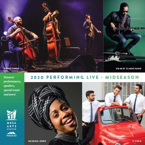 Cover of performing live midseason brochure