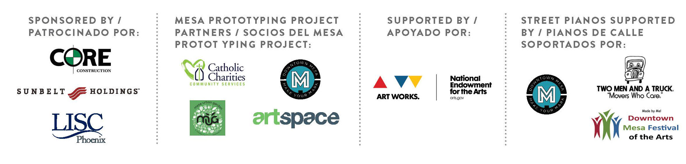 Mesa Prototyping Project Sponsors